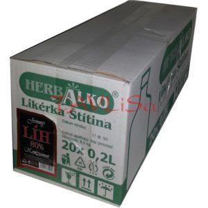 Líh Konzumní 80% 0,2l x20 ks placatice Herba Alko
