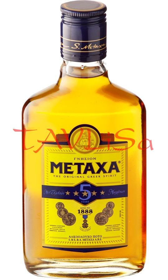 Metaxa 5* 38% 0,2l placatice
